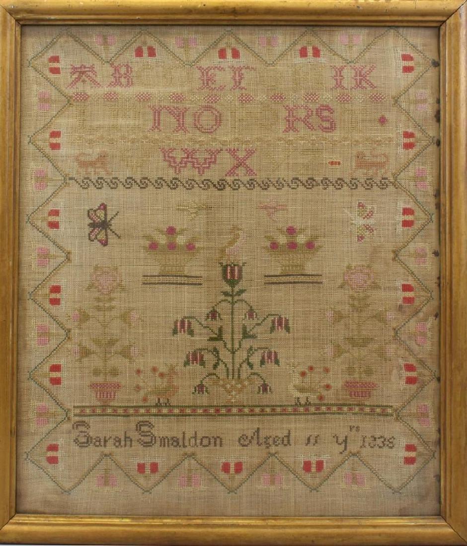 Sarah Smaldon Needlework Sampler 1836