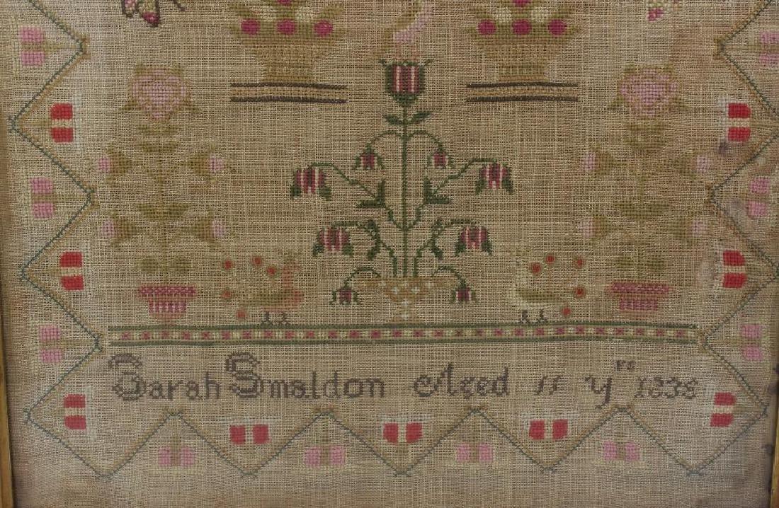 Sarah Smaldon Needlework Sampler 1836 - 2