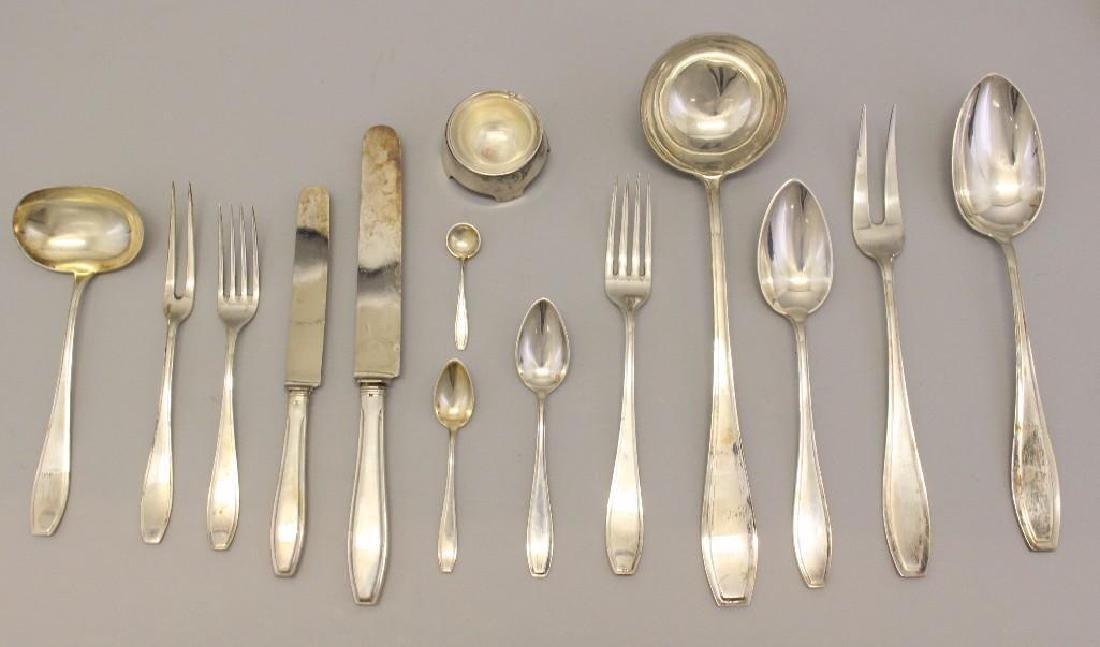 800 German Silver, Solingen Flatware Set