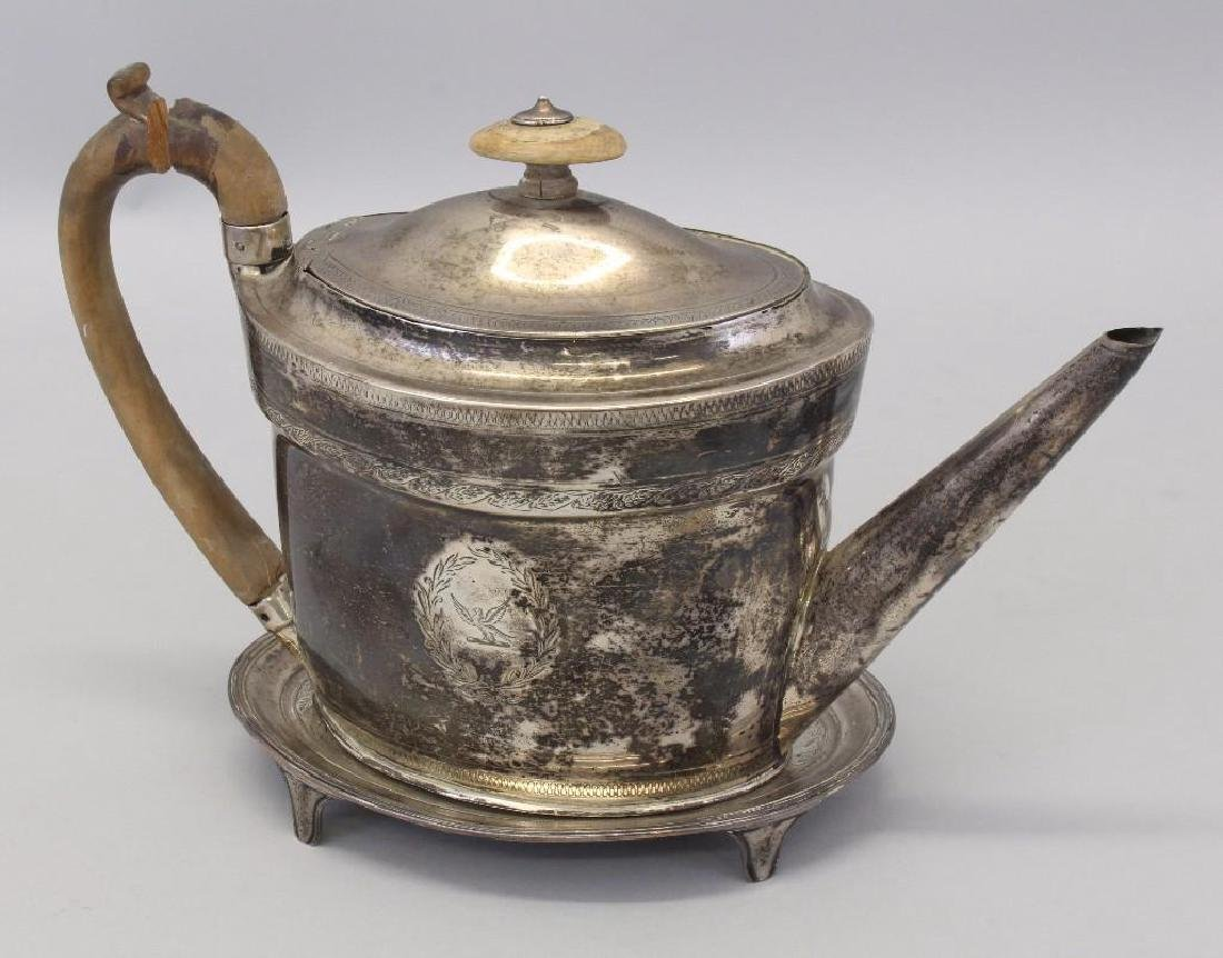 1798 Georgian Sterling Silver Teapot & Stand