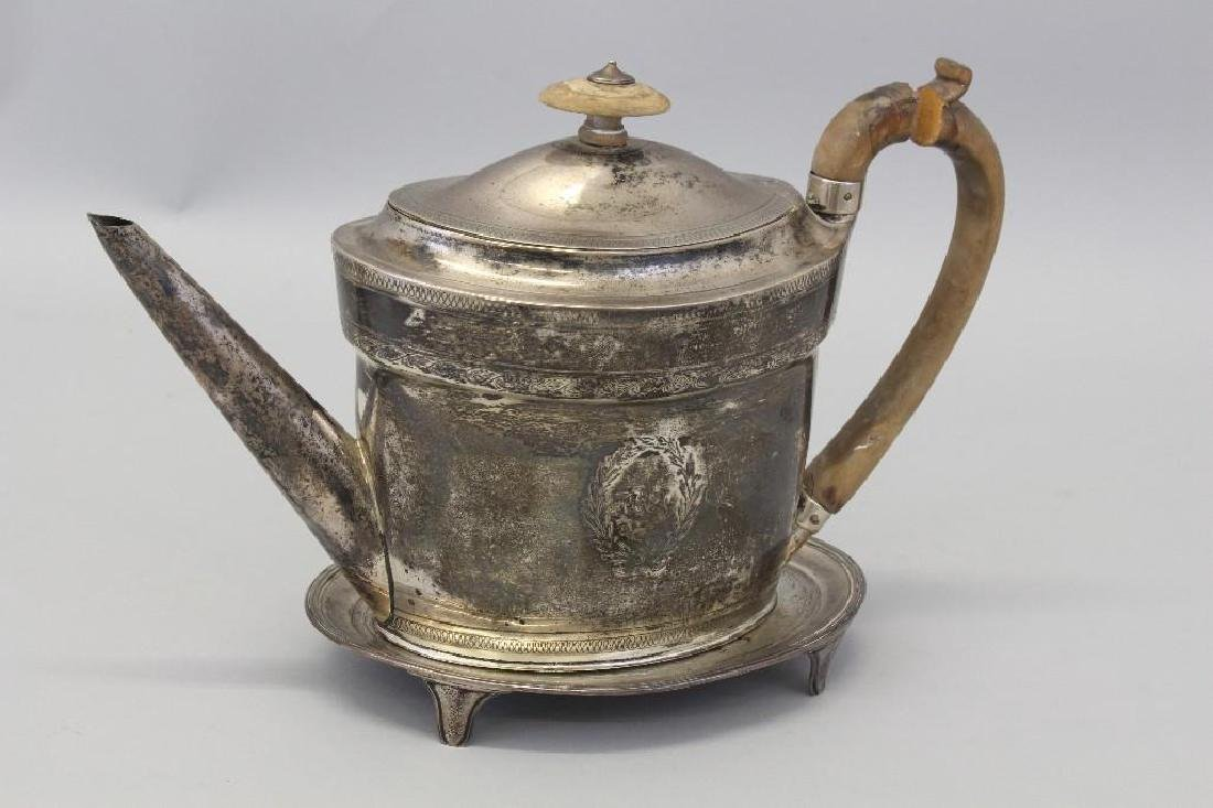 1798 Georgian Sterling Silver Teapot & Stand - 2
