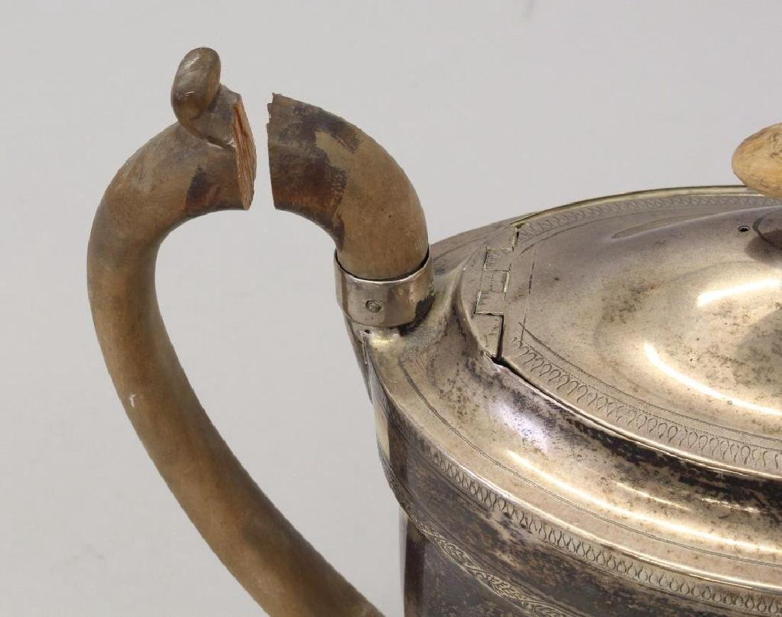 1798 Georgian Sterling Silver Teapot & Stand - 8