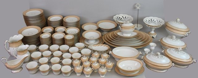 (203) Piece French Soft Paste Dishware Set