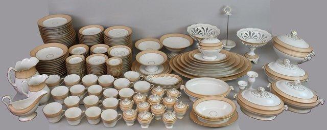(203) Piece French Soft Paste Dishware Set