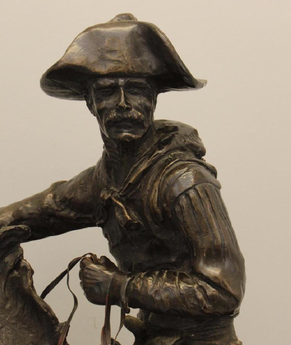 """Attributed to Frederic Remington, """"The Cowboy"""" Bronze - 2"""
