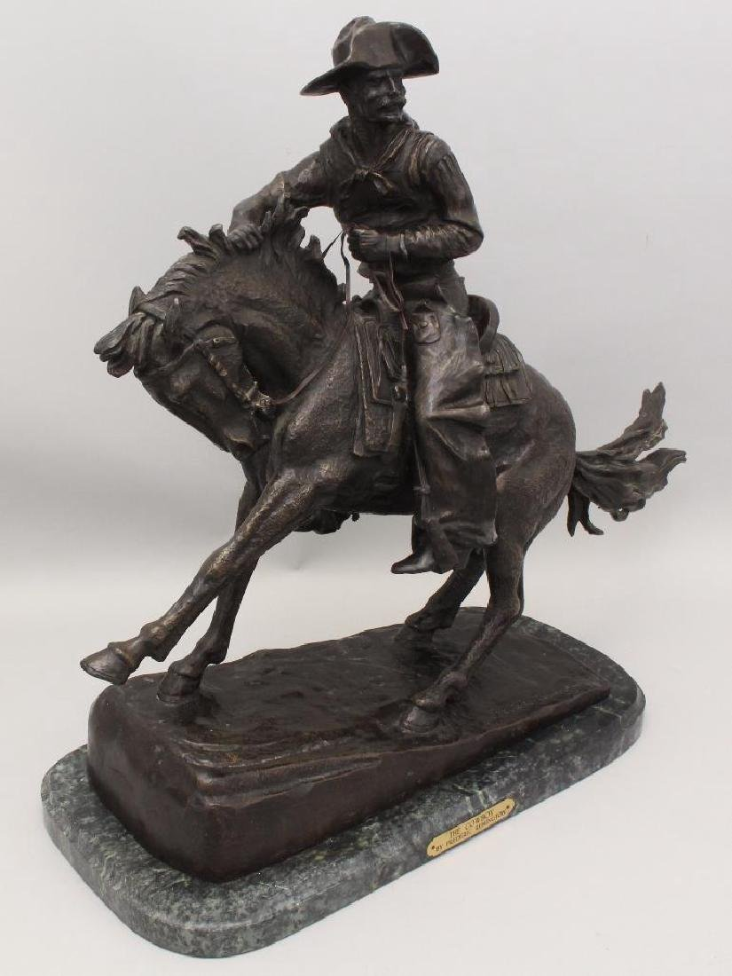 """Attributed to Frederic Remington, """"The Cowboy"""" Bronze - 3"""