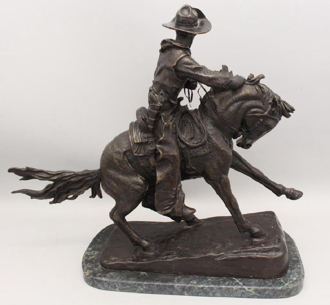 """Attributed to Frederic Remington, """"The Cowboy"""" Bronze - 4"""