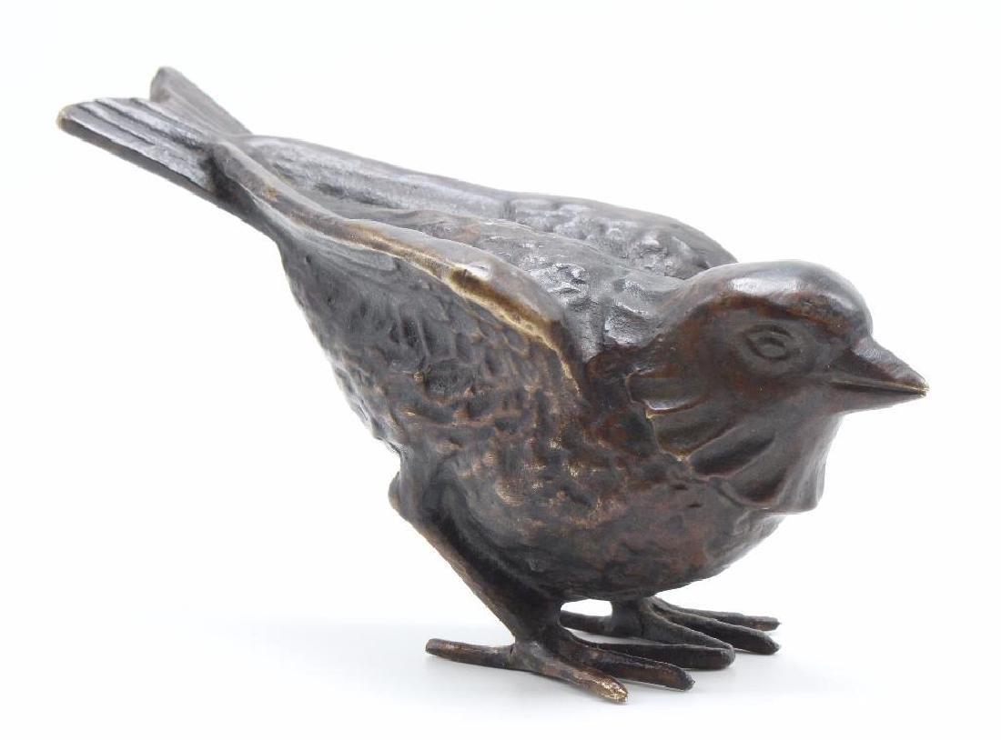 Max LeVerrier Bronze Aviary Sculpture