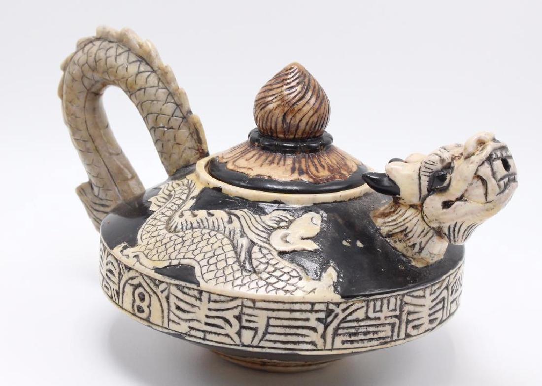 (7) Piece Japanese Stoneware Sake Set - 2
