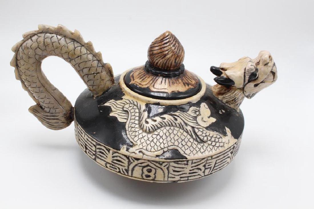 (7) Piece Japanese Stoneware Sake Set - 3