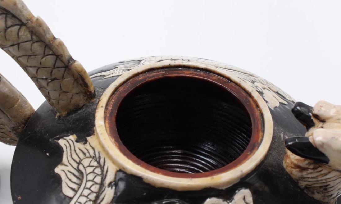 (7) Piece Japanese Stoneware Sake Set - 4