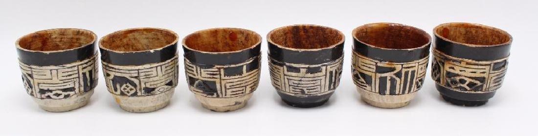 (7) Piece Japanese Stoneware Sake Set - 5