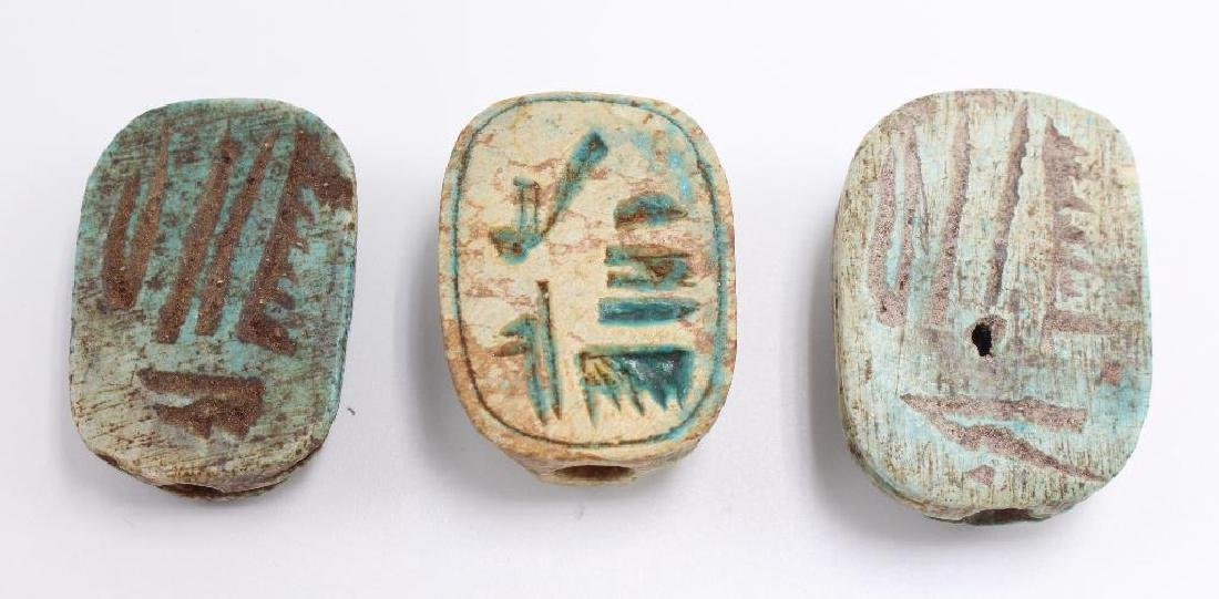 (10) Piece Antique Egyptian Scarab and Pharoh Grouping - 4