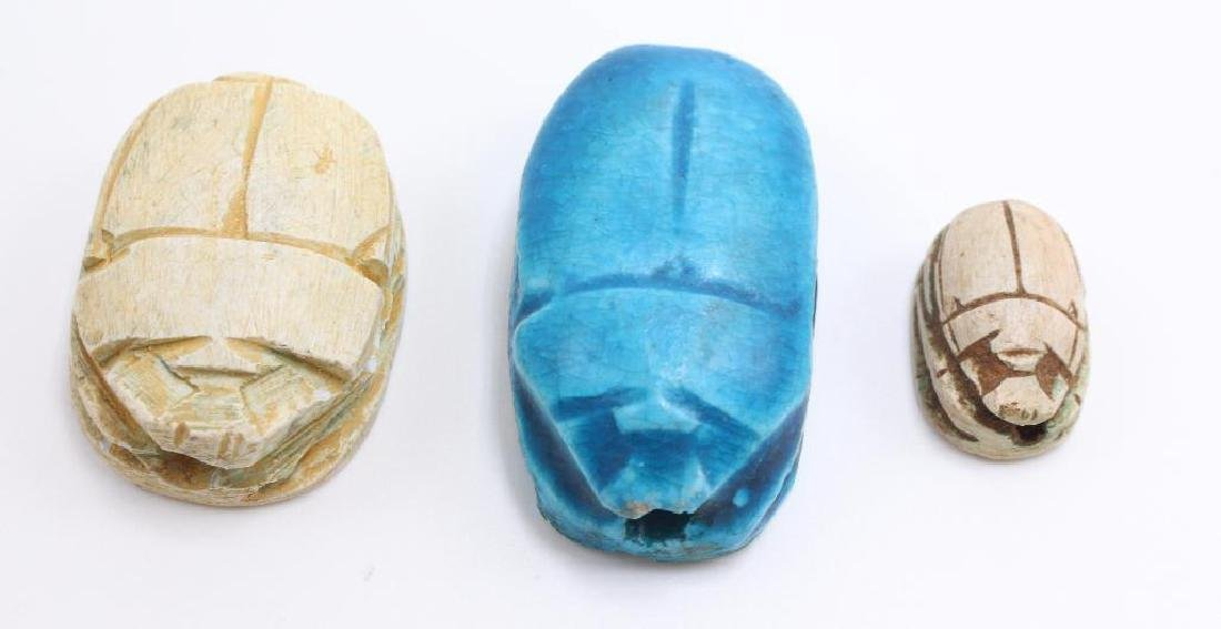 (10) Piece Antique Egyptian Scarab and Pharoh Grouping - 5