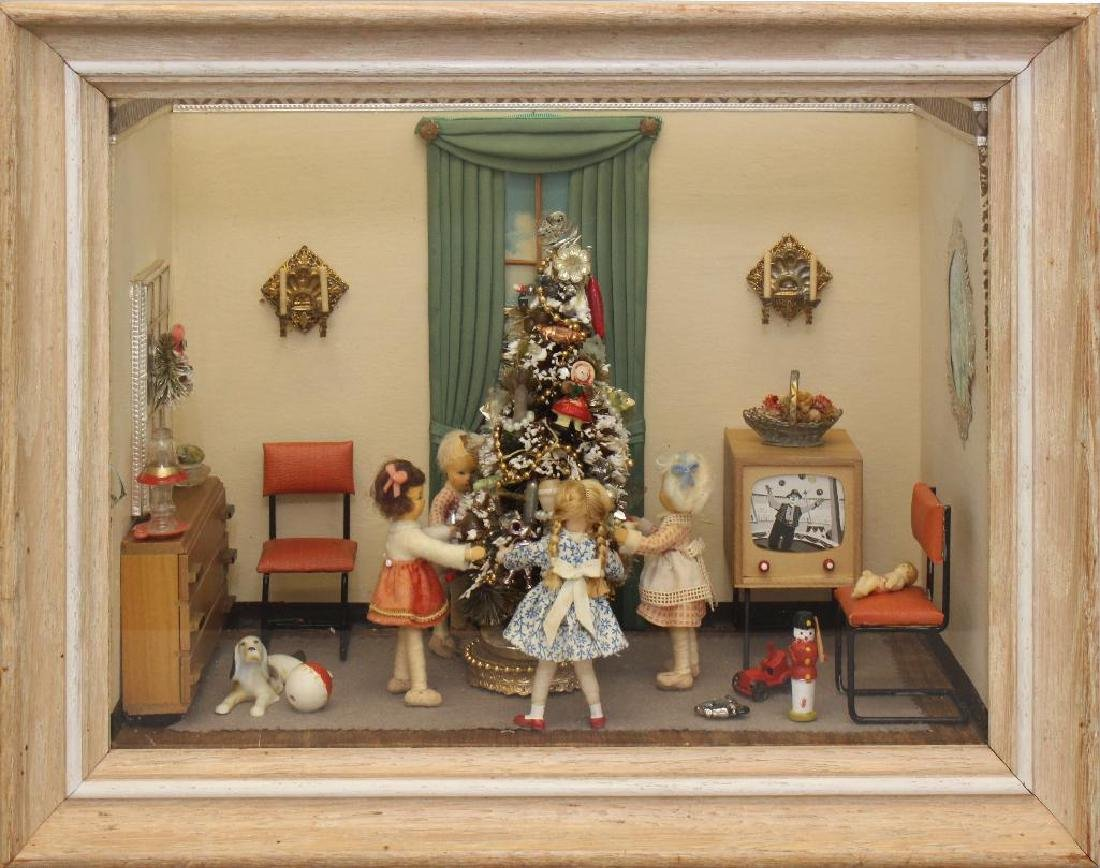 Mid-Century Shadow Box Christmas Display