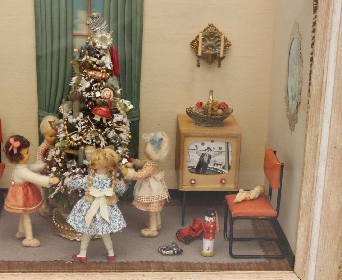 Mid-Century Shadow Box Christmas Display - 2
