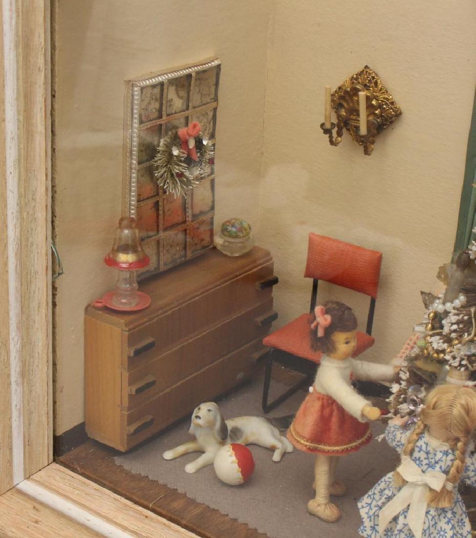 Mid-Century Shadow Box Christmas Display - 3
