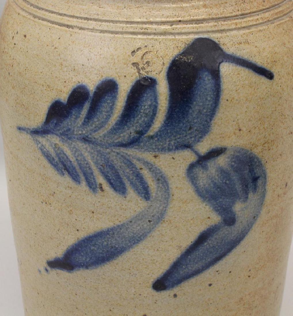Set of (2) Salt Glazed Stoneware Crocks - 2