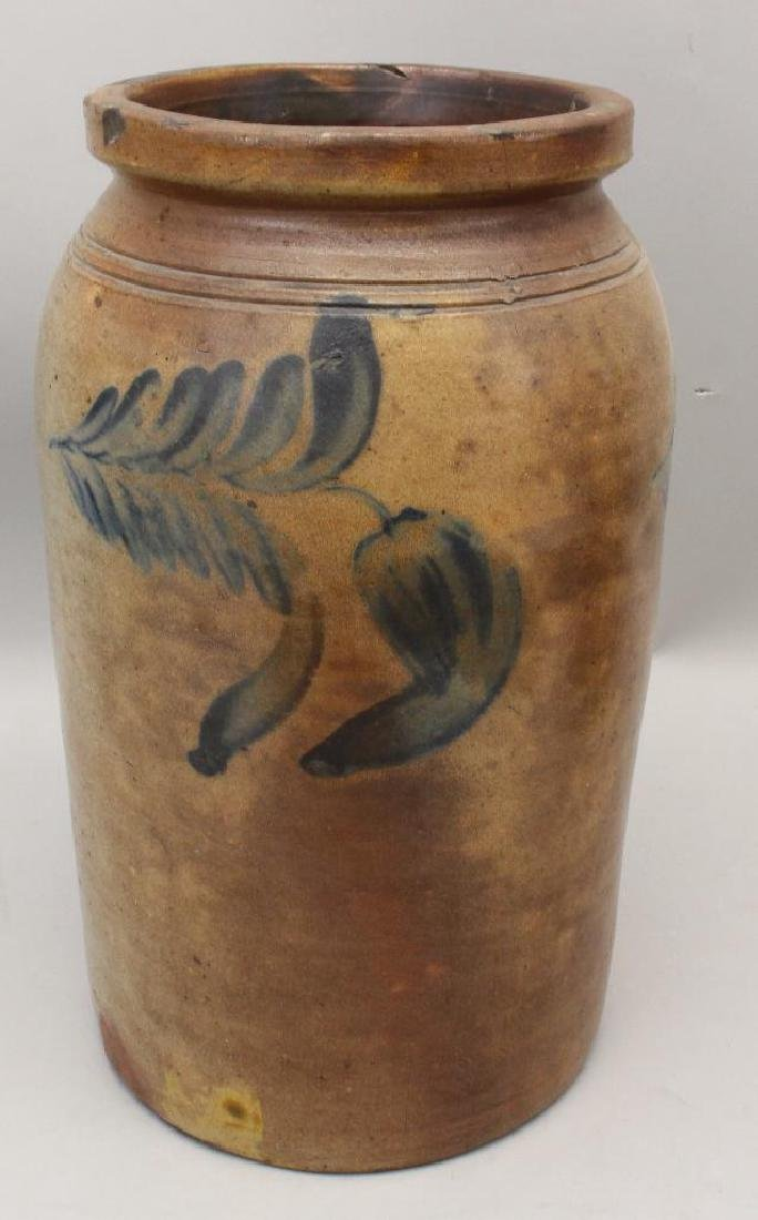 Set of (2) Salt Glazed Stoneware Crocks - 4