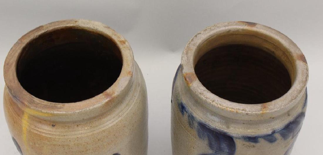 Set of (2) Salt Glazed Stoneware Crocks - 3