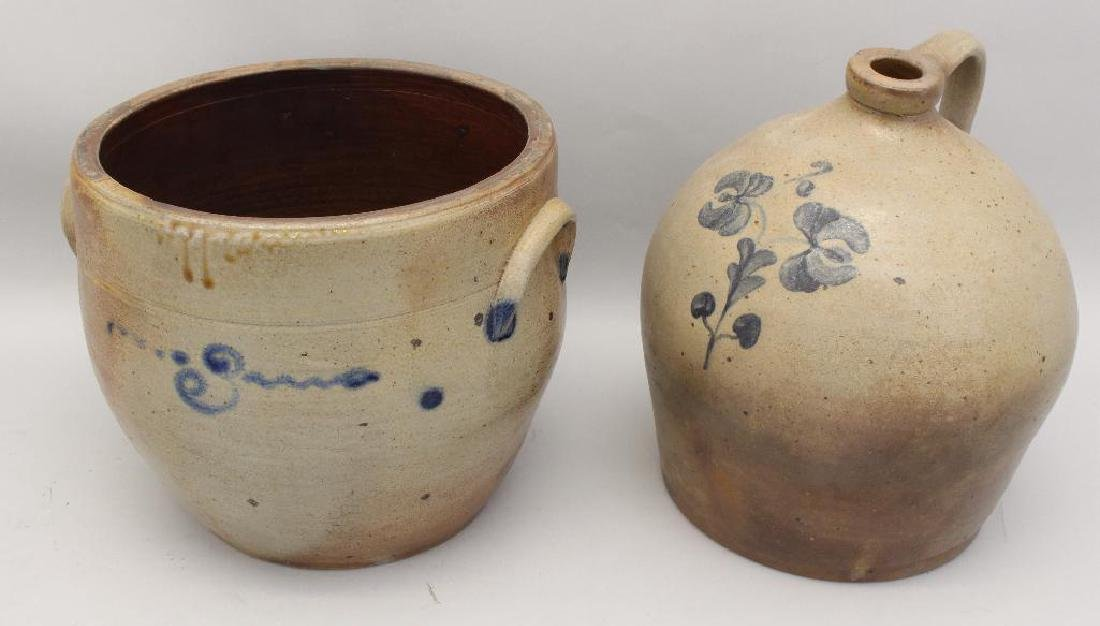 Lot of (2) Cobalt Stoneware