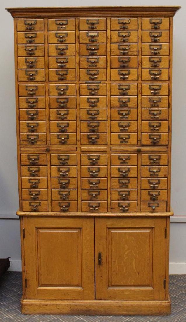 Library Bureau Sole Makers Card Catalog Cabinet