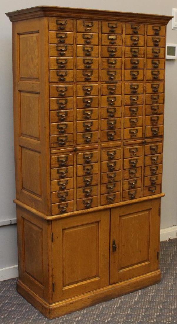 Library Bureau Sole Makers Card Catalog Cabinet - 2
