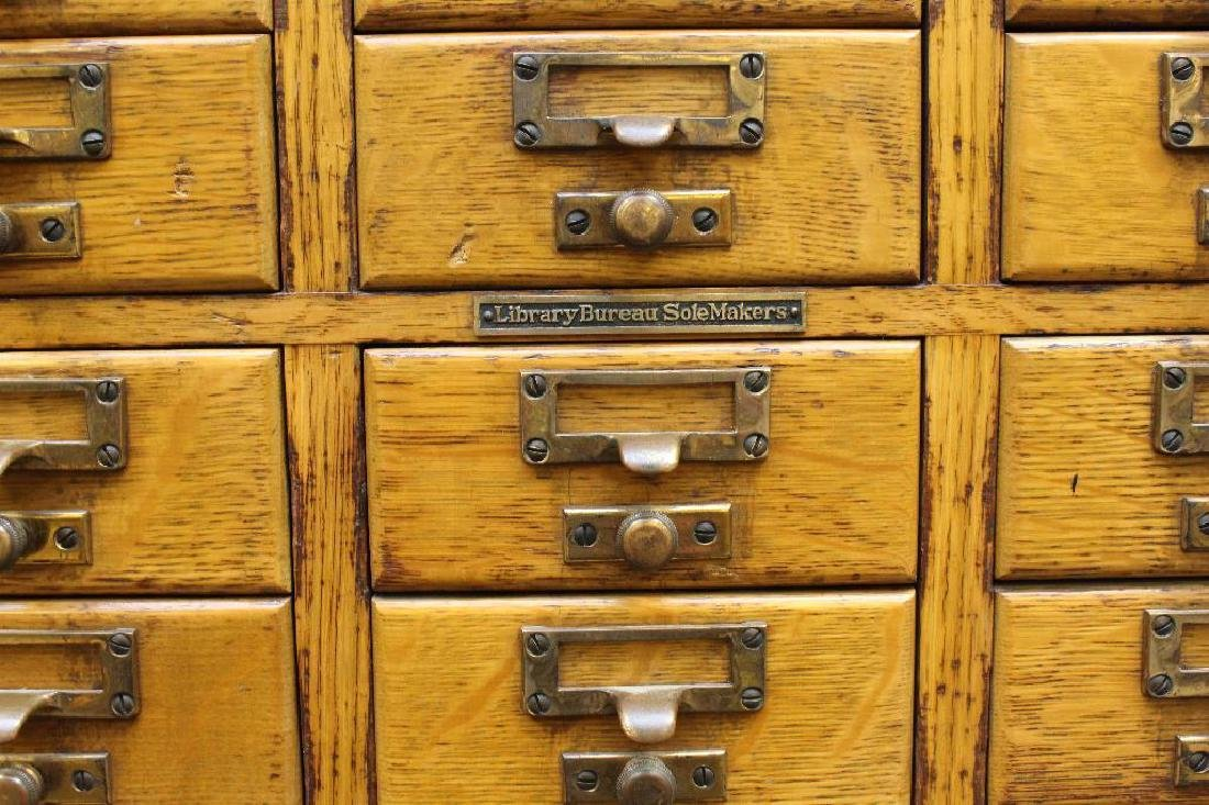 Library Bureau Sole Makers Card Catalog Cabinet - 3