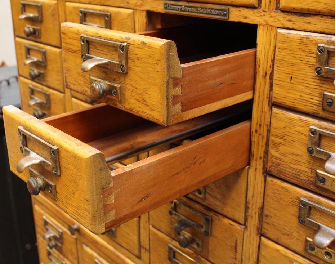 Library Bureau Sole Makers Card Catalog Cabinet - 4