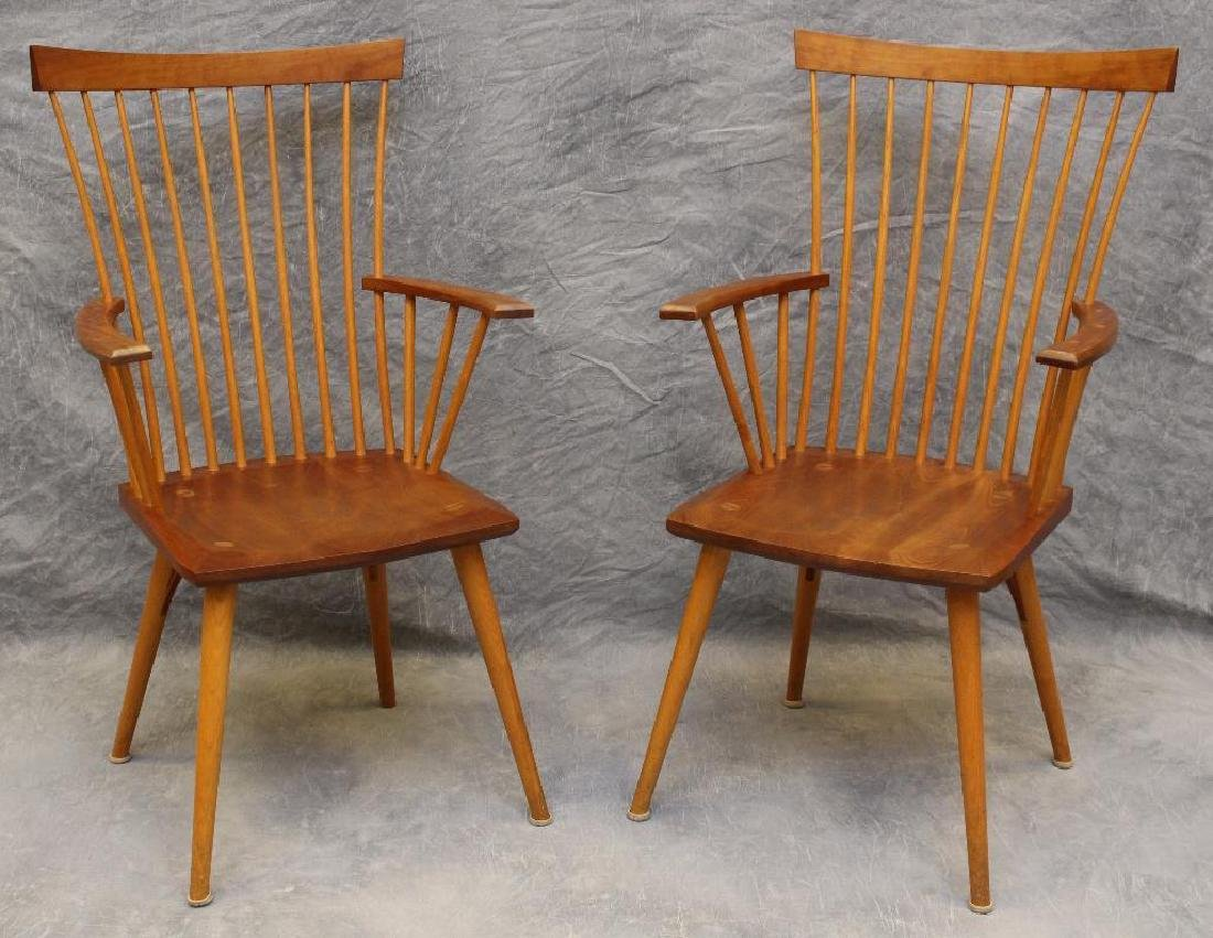 Pair of Thomas Moser Custom Made Armchairs