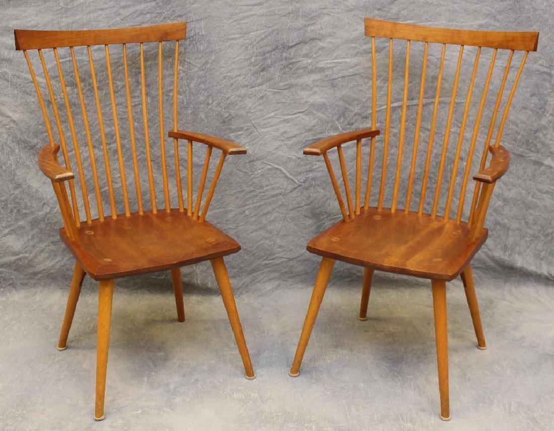 Pair of Thomas Moser Custom Made Armchairs - 2