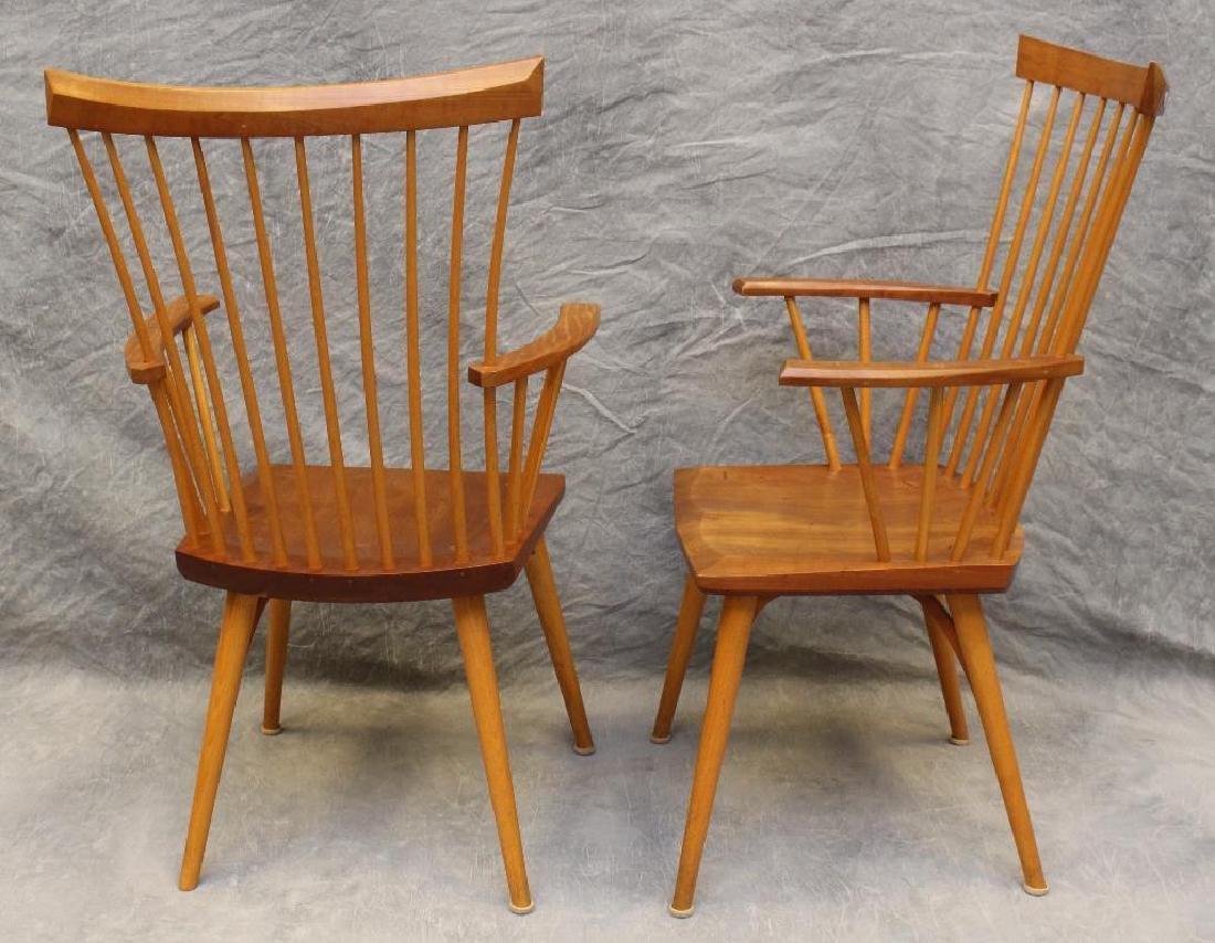 Pair of Thomas Moser Custom Made Armchairs - 4