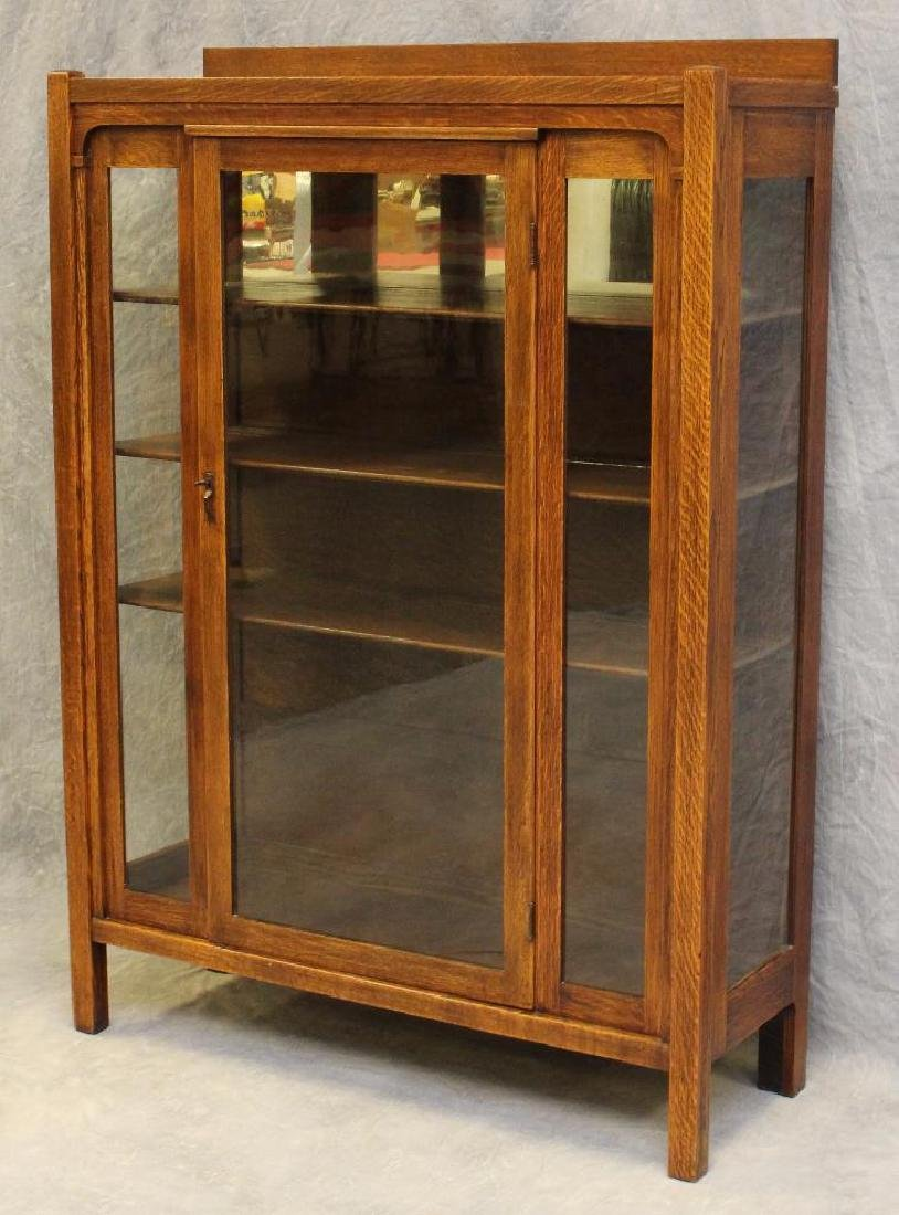 Arts and Crafts Style China Cabinet - 2