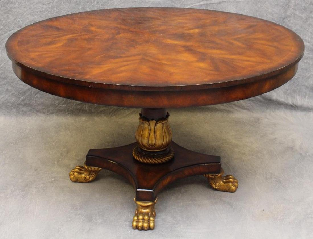 Flamed Mahogany Veneered Center Table