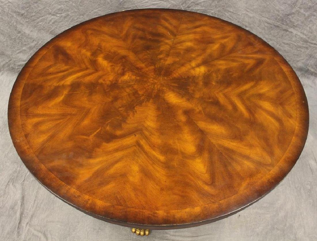 Flamed Mahogany Veneered Center Table - 2