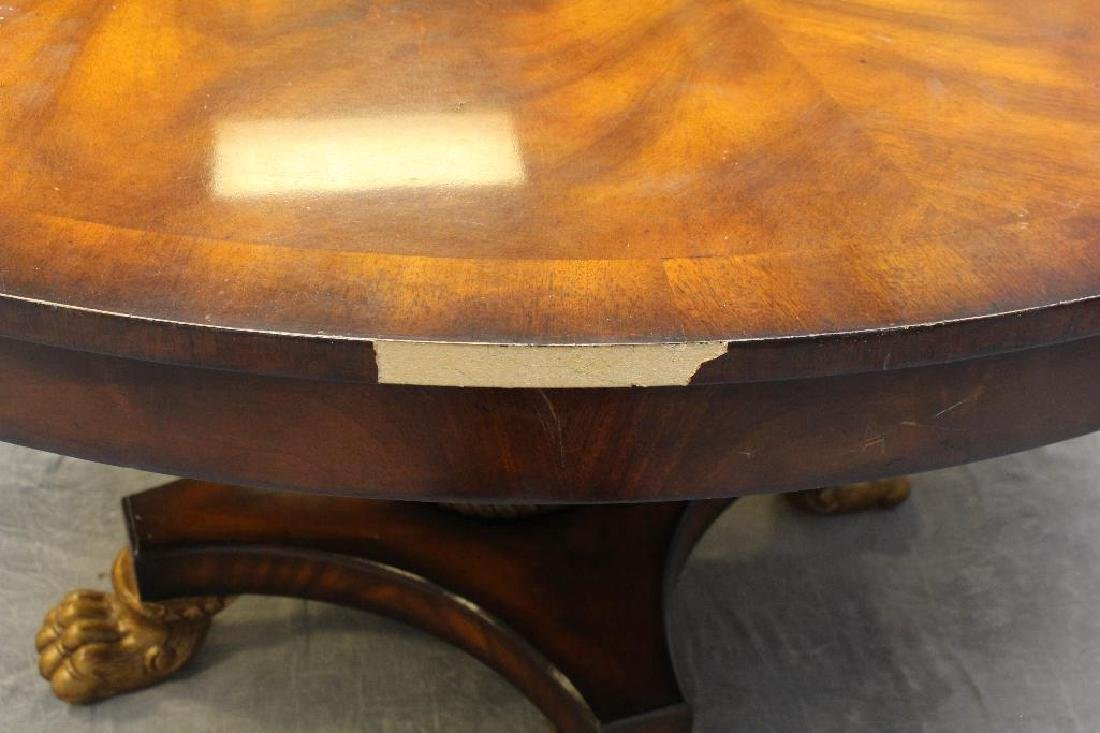 Flamed Mahogany Veneered Center Table - 5