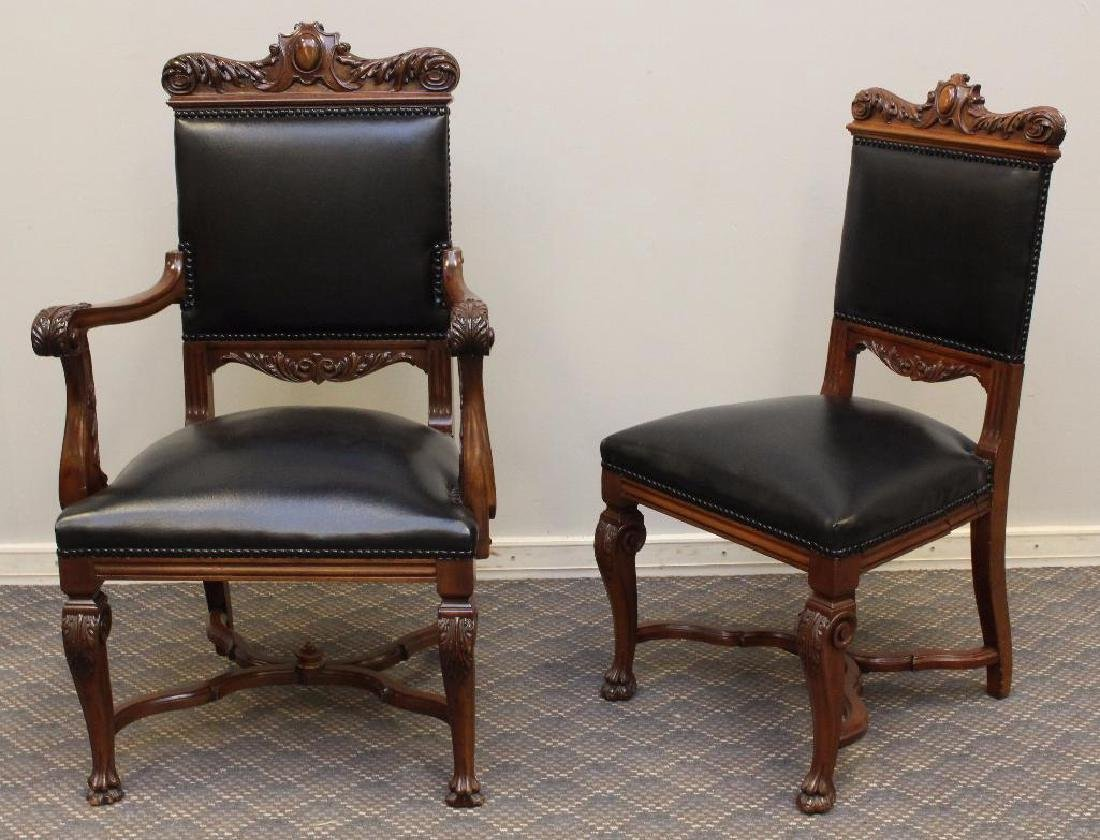 Set of (8) Ornately Carved Dining Chairs - 2