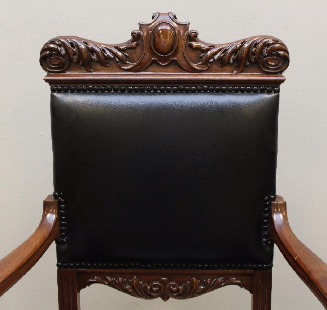 Set of (8) Ornately Carved Dining Chairs - 3