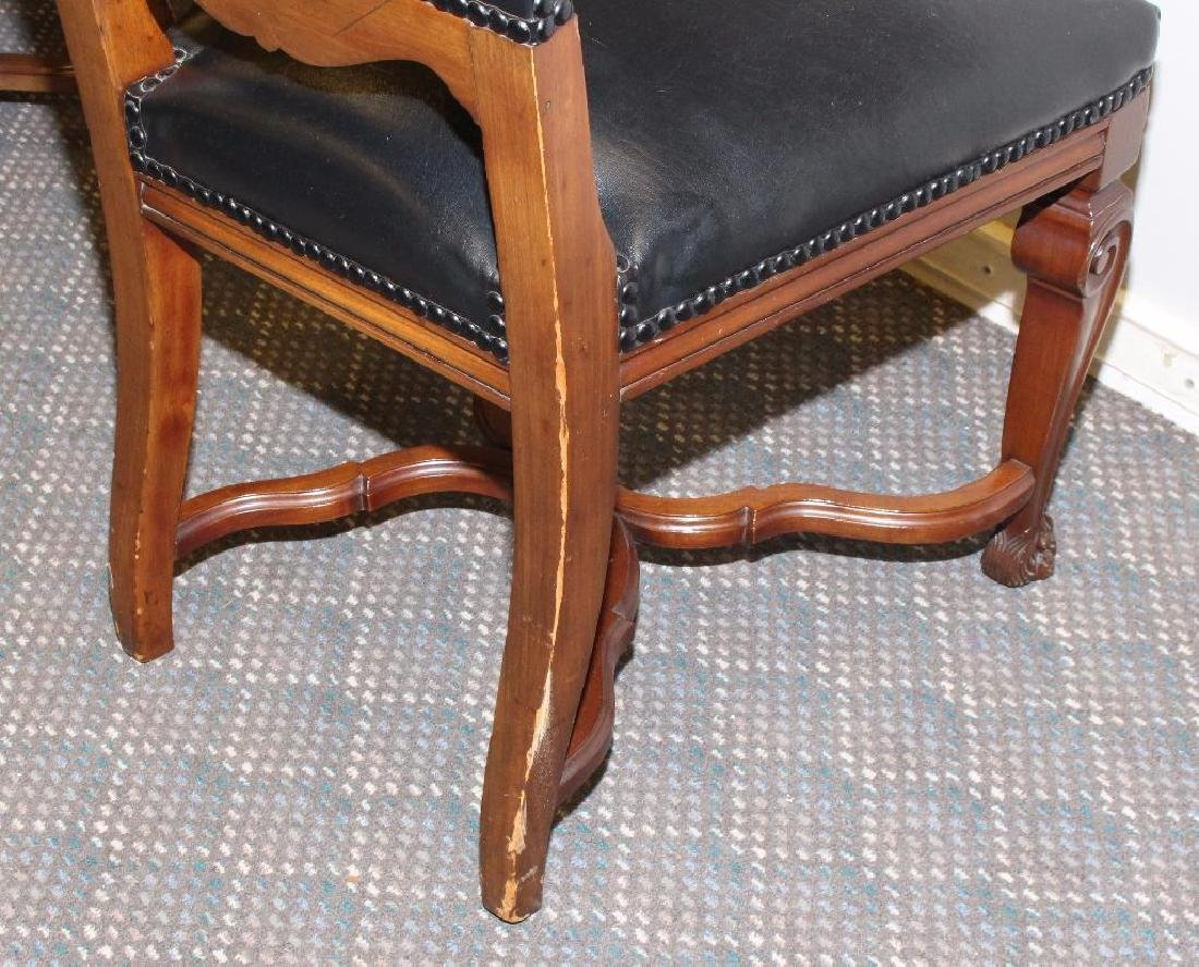 Set of (8) Ornately Carved Dining Chairs - 7