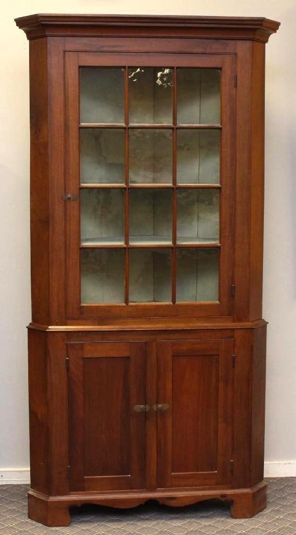 Pennsylvania Federal Walnut Corner Cupboard