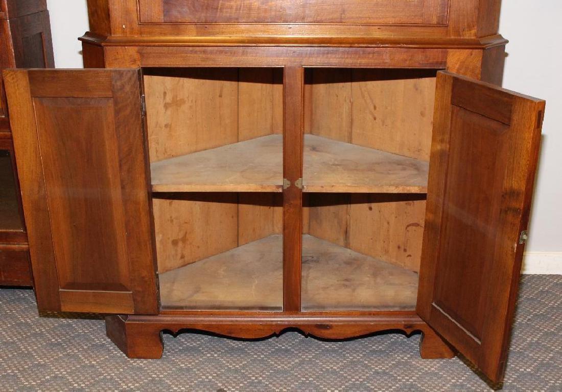 Pennsylvania Federal Walnut Corner Cupboard - 3