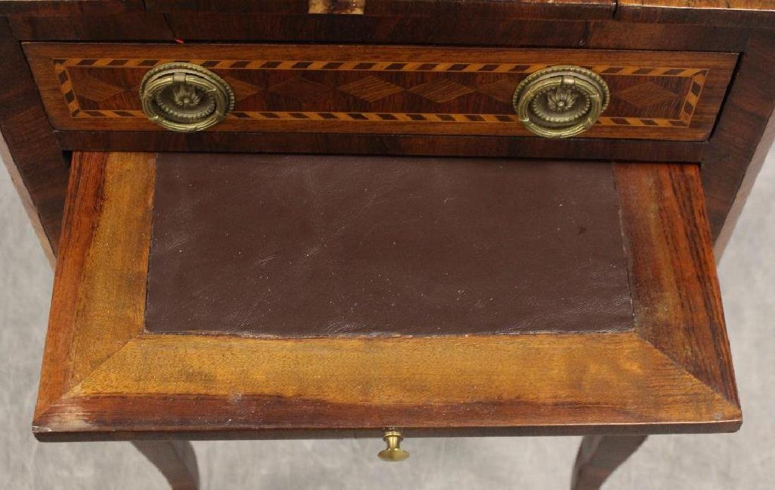 Mahogany Inlaid Writing Table - 7