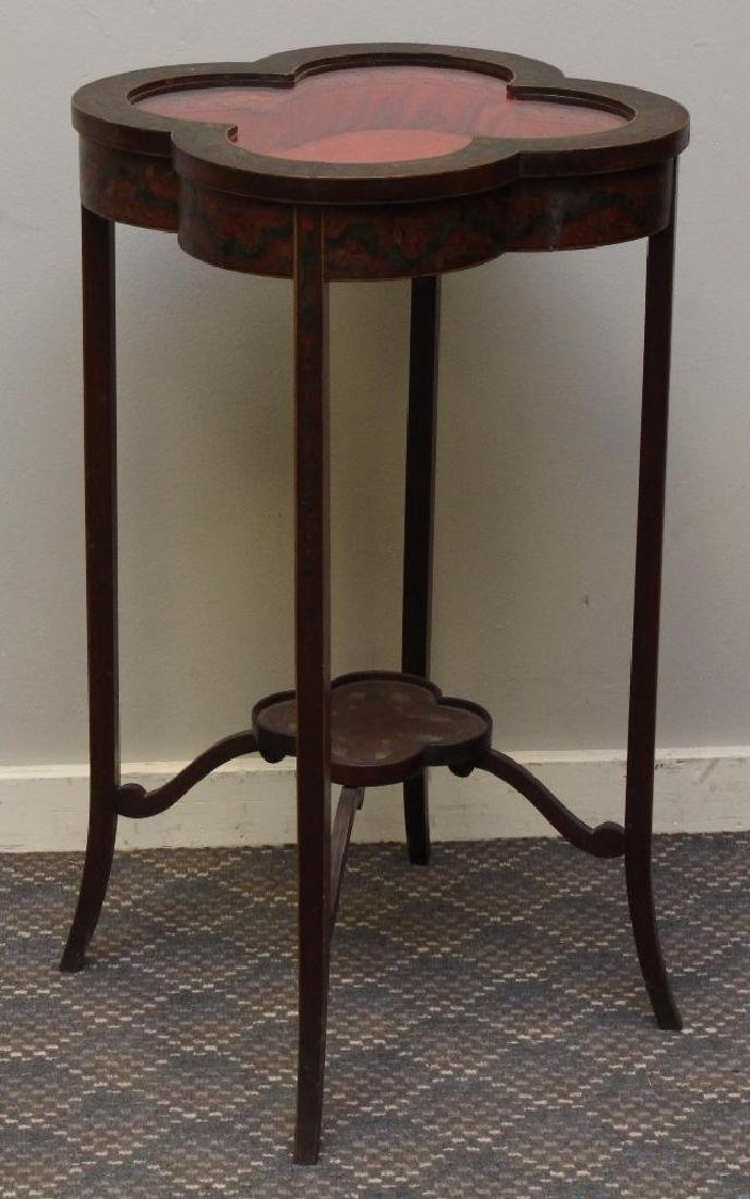 Paint Decorated Table Vitrine