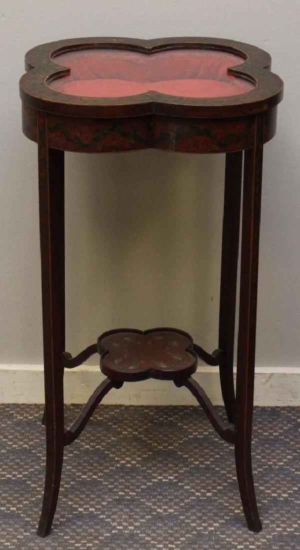 Paint Decorated Table Vitrine - 2