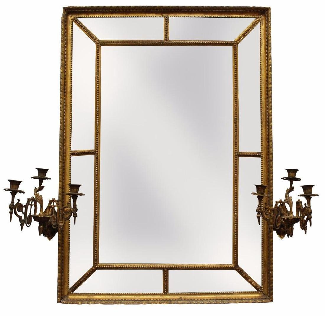 Giltwood Girandole Mirror