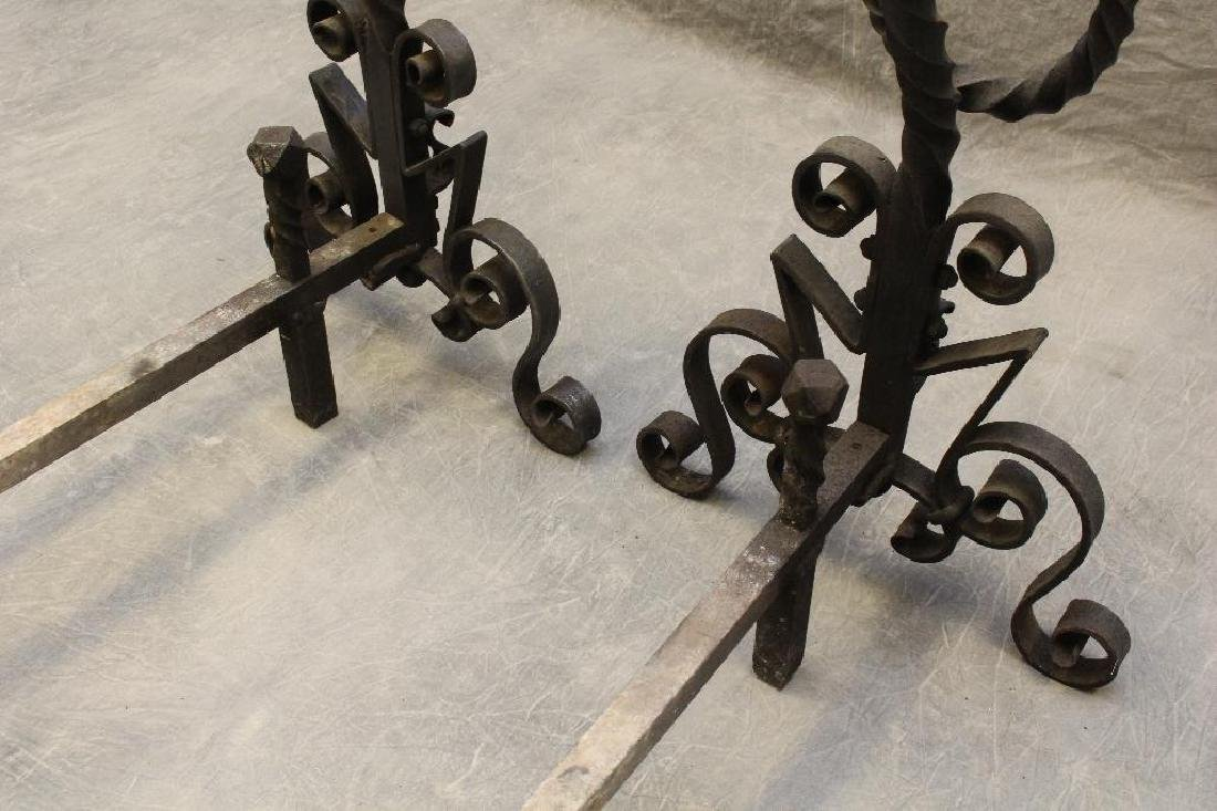 (2) Pair of Cast Iron Andirons - 3