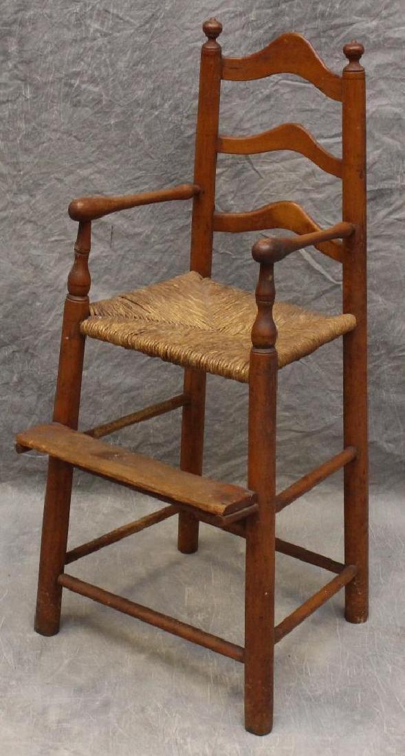 Child's Poplar Ladderback High Chair