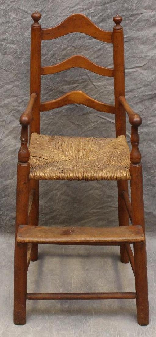 Child's Poplar Ladderback High Chair - 2