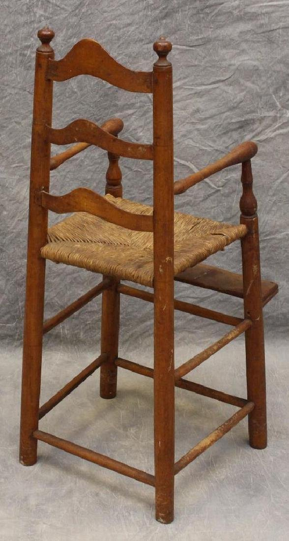 Child's Poplar Ladderback High Chair - 3