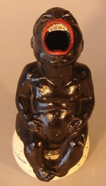 4003: Black-Americana - 2 Child Cast Iron Ash Trays